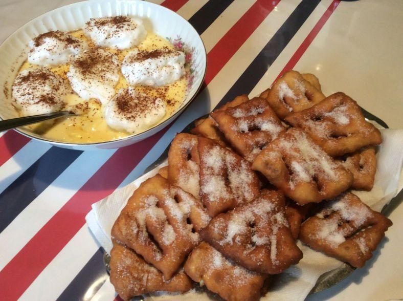 Dessert maison de Martine! マルチーヌさんの手作りデザートは、やさしい味。カーニバルが近づいてベニエ(揚げ菓子)の季節。
